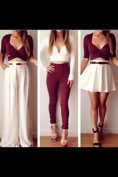 White, skirt, pants