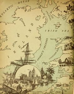 Use for St. Patrick's Day LO Vintage Map of Ireland