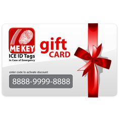 A MEkey ICE ID Gift Card is the perfect present for friends, family or a loved one if you are not sure which emergency medical ID they would like. Presents For Friends, In Case Of Emergency, Id Tag, Friends Family, Medical, Coding, Ice, Messages, Tags