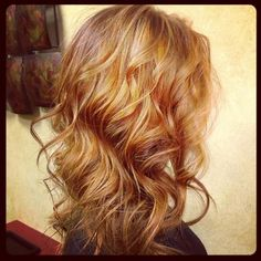 Strawberry blonde and red. This would look good on Becca!?