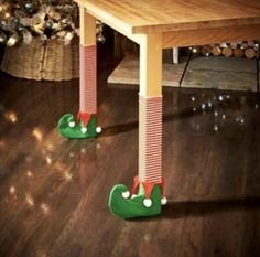 Everything needs the proper attire for Christmas, even your chair legs! Dress up your chair legs or table legs with our Christmas Chair Socks and make scratched floors a problem of the past. Christmas Tree Table Decorations, Christmas Tree On Table, Christmas Chair, Party Table Decorations, Decoration Table, Christmas Elf, Christmas Ornament, Christmas Ideas, Christmas Crafts