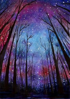 70 Easy and Beautiful Canvas Painting Ideas for Beginners to Try – Galaxy Art Easy Canvas Painting, Simple Acrylic Paintings, Acrylic Art, Canvas Art, Diy Canvas, Galaxy Painting Acrylic, Acrylic Tips, Painting Abstract, Watercolor Galaxy