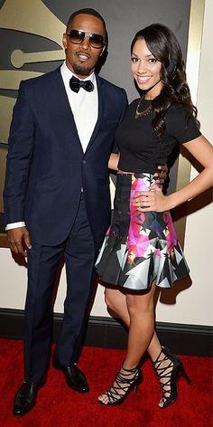 Jamie Foxx and daugher Corinne Bishop.......Grammys Awards 2014: Arrivals : People.com
