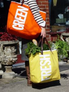 Eco-Friendly Shopping Bags #gogreen #sustainability #dreamoutloud