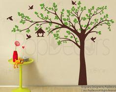 Bebé vivero árbol calcomanía removible árbol por PopDecors en Etsy