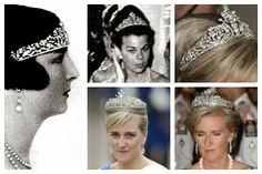 Photos (clockwise from left): Princess Anne, Duchess of Aosta; Princess Maria Beatrice of Savoy; Princess Astrid of Belgium; Princess Astrid of Belgium Royal Tiaras, Tiaras And Crowns, Royal Family Trees, Diamond Tiara, Casa Real, Princess Anne, Royal Jewelry, Circlet, Royals