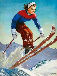 love me a vintage ski poster