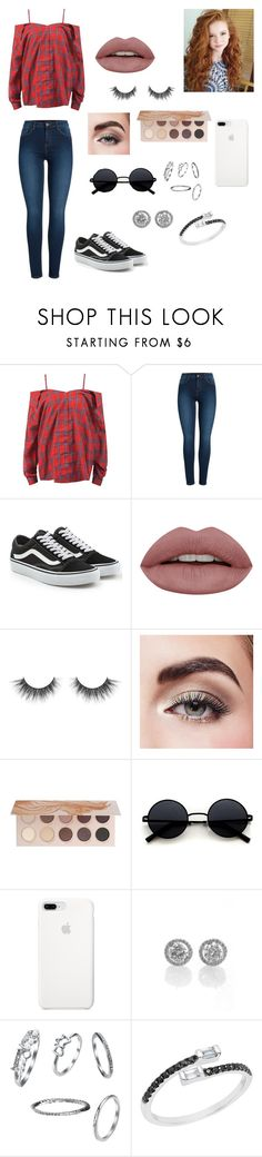 """""""Genevieve"""" by yourcodemameismilo ❤ liked on Polyvore featuring Sans Souci, Pieces, Vans, Avon and ZOEVA"""