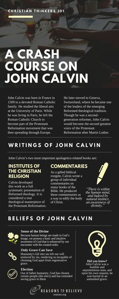 John Calvin was an influential French theologian and pastor during the Protestant Reformation. He was a principal figure in the development of the system of Christian theology later called Calvinism. John Calvin was Martin Luther's successor a