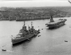 HMS Glasgow & H.M.S. Theseus | This cracker of a picture of … | Flickr