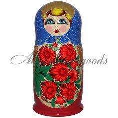 Traditional Russian doll 69 cm 11 kg! 50 pc Handpainted babushka doll Matryoshka