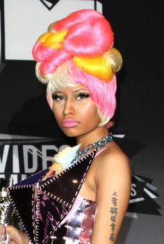 Nicki Minajs twisted twisty hairstyle