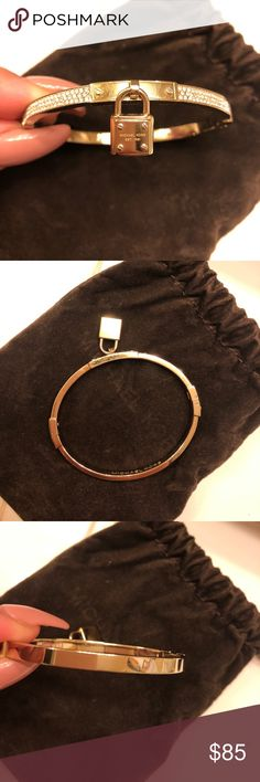 Michael kors bracelet Perfect condition! Gold tone with crystals! Comes with dust bag! Michael Kors Jewelry Bracelets