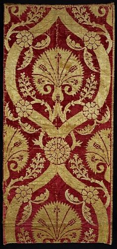 Velvet furnishing fabric, Bursa, Turkey, 16th cen.
