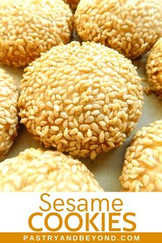 Sesame Cookies-You'll Love These Delicious Sesame Cookies That Are Light, Crunchy And So Easy To Make You Should Toast The Sesame Seeds For The Best Result. Italian Sesame Seed Cookies, Recipe For Sesame Cookies, Honey Cookies, Italian Cookies, Fun Baking Recipes, Sweet Recipes, Cookie Recipes, Dessert Recipes, Cookie Desserts