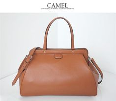 Brown grance lady genuine leather shopping bags tote by starbag, $62.44