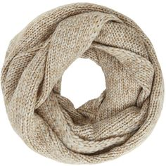 John Lewis Wool Blend Snood, Camel Marl ($38) ❤ liked on Polyvore featuring accessories, scarves, john lewis, snood scarves and chunky scarves