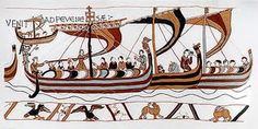 Normans arriving at Pevensey, depicted in the Bayeux tapestry