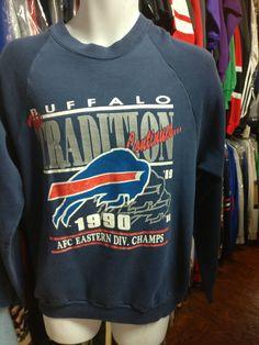 4efe4664f Vintage  90 BUFFALO BILLS NFL Fruit Of The Loom Sweatshirt L