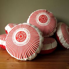 Tunnocks Teacake Screen-Printed Cushions by Nikki mcWilliams Tunnocks Tea Cakes, British Gifts, Modern Crafts, Pub, Printed Cushions, Handmade Journals, Handmade Pillows, Cushion Pads, Cushion Covers