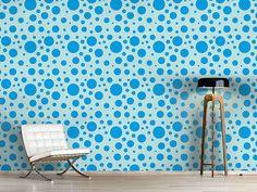 Design #Tapete Blaue Seifenblasen                              …