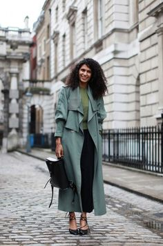love this teal trench!