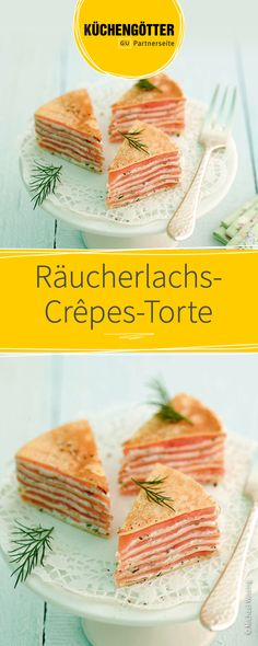 Rezept für den Osterbrunch: So einfach bereitet ihr eine Räucherlachs-Crêpes-Torte selber zu.