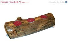 Christmas in July SALE Wooden Log Candle by BillsWoodenPleasures, $11.69