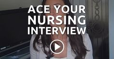 Ace Your Nursing Interview --- Years of all-nighters and you finally got through nursing school. You finally passed the NCLEX and now you have a license that you've always dreamt of! New Grad Nurse, Rn Nurse, Nurse Stuff, Nurse Life, Interview Help, Job Interview Questions, Nursing Tips, Nursing Notes, Becoming A Nurse