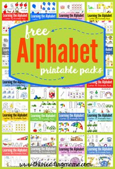 FREE ABC Printable Packs {Learning the Alphabet} – This Reading Mama FREE ABC Printable Packs {Learning the Alphabet} Learning the Alphabet can be hands-on and fun with these FREE ABC printable packs, designed with toddlers and preschoolers in mind! Preschool Literacy, Preschool Letters, Preschool At Home, Preschool Printables, Preschool Worksheets, Alphabet Activities Kindergarten, Teaching The Alphabet, Learning Letters, Abc Alphabet