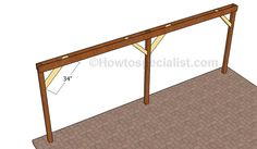 This step by step diy woodworking project is about how to build an attached carport. Learn how to build a carport attached to an already existing building, by paying attention to the instructions described in the article. Building A Carport, Diy Carport, Carport Plans, Pergola Plans, Building Plans, Patio Plans, Learn Woodworking, Woodworking Techniques, Woodworking Projects Diy