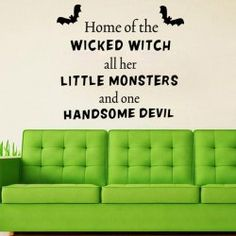 Halloween Little Monsters Quotes Room Decoration Wall Sticker Halloween Wishes, Halloween Quotes, Halloween Images, Halloween Home Decor, Halloween House, Halloween Decorations, Halloween 2019, Wall Stickers Halloween, Wall Decor Stickers