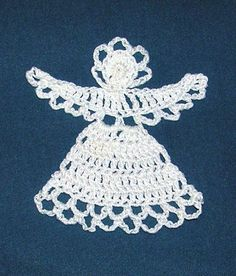 Angel hand crocheted applique or ornament by PetalsnMore on Etsy