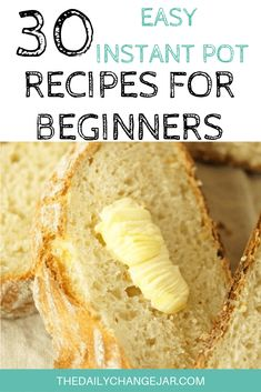 30 Simple Instant Pot Recipes for Beginners - The Daily Change Jar - . 30 Simple Instant Pot Recipes for Beginners - The Daily Change Jar - pot recipes Healthy Recipes, Gourmet Recipes, Dessert Recipes, Cooking Recipes, Bread Recipes, Crockpot Recipes, Easy Recipes, Best Instant Pot Recipe, Instant Pot Dinner Recipes