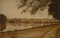 This is an old post card that my cousin John has that I took a photograph of. It shows Donegal Town from the Quay in It looks like an b&w pic that was coloured, and of course now it's all faded to feck. Donegal, Scotland, To Go, France, Memories, History, Folklore, Roots, Pride