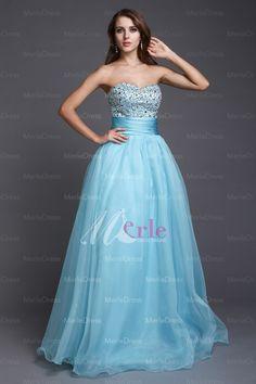 Stylish A-line Sweetheart Beading Sleeveless Floor-length Organza Prom Dresses