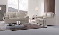BOXTER - Salon en cuir blanc avec possibilité de relax manuels ou électriques. Craquez pour ce modèle Boxter, vous ne serez pas déçu  | Meubles Nikelly