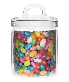 Save money when grocery shopping—buy in bulk and store your goods in this canister to keep products fresh. Glass Storage Jars, Jar Storage, Kitchen Storage, Tiny Living, Canisters, Sprinkles, Essentials, Candy, Food