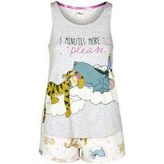 Disney Winnie the Pooh Shorts Pyjamas ❤ liked on Polyvore featuring intimates, sleepwear, pajamas, disney pajamas, disney, disney sleepwear and disney pjs