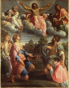 Annibale Carracci, Cristo in Gloria con santi ed Odoardo Farnese, 1597, Galleria Palatina, Firenze