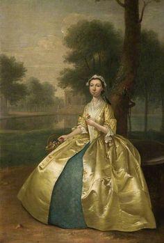 DEVIS: Portrait of a Woman in Gold c. 1750