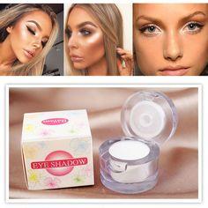 Marca de Maquiagem Natural de Longa Duração Eye GLitter Em Pó Face Maquiagem Marcador Branco Branqueador Brilho Olho Sombra Em Pó Cosméticos