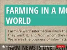 Infographic: Farming in a mobile world--my experiment with infogr.am.