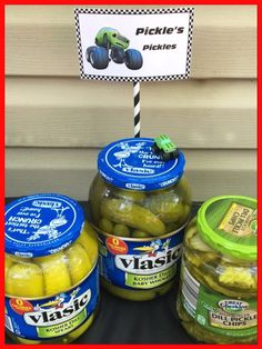 """Pickles """"pickles"""" for my son's Blaze & The Monster Machines themed 4th birthday party!"""