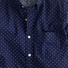 J.Crew - Secret Wash shirt in cross square print