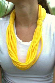 Etsy tshirt scarves | Infinity Scarves, Tshirt Scarf, Yellow Scarf, Womens Scarf, Scarf ...