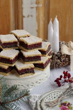Juditka konyhája: ~ MEGGYES - MÁKOS KOCKA ~ Poppy Seed Cookies, Cake Decorating Videos, Quiche, Cooking Recipes, Cheese, Food, Chef Recipes, Essen, Quiches