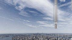 ニューヨークの建築事務所、地球周回軌道に乗せた小惑星からケーブルでビルをつり下げる未来型の建物構想を発表。空飛ぶ自動車もはよ。 https://shr.tc/2o29zS9