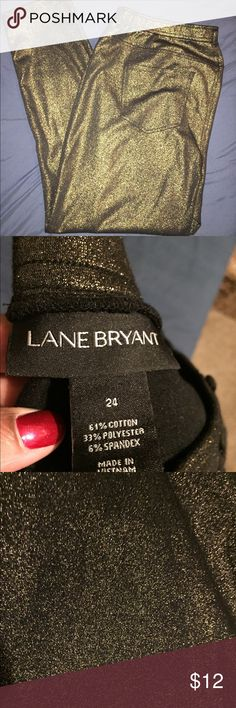 Lane Bryant gold, glamour jeggings Dress them up or down... you'll be the fashionista with these in town! Like brand new. Pants Skinny