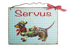 Türschild Servus von Un-Art-Tick via dawanda.com